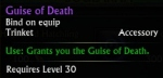 Guise of Death tooltip
