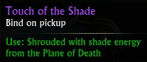 Touch of the Shade tooltip
